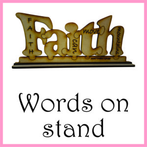 Words on stand